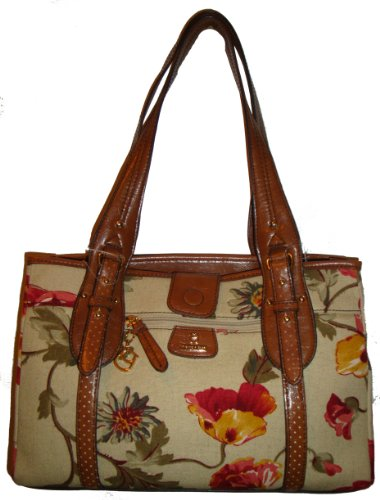 Women's Etienne Aigner Purse Handbag Tucson Fabric Collection Garden Floral