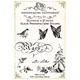 Something Tattered March Mars French Month Clear Stamps, 4 by 4-Inch