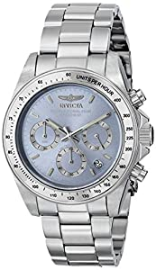 Invicta Men's ILE9211ASYB Speedway Analog Display Japanese Quartz Silver Watch