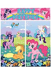 My Little Pony 'Friendship is Magic' Giant Scene Setter Wall Decorating Kit (5pc)
