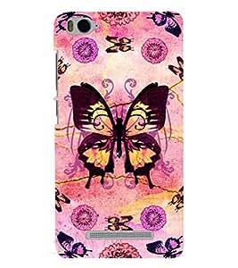 Printvisa Assorted Butterfly Pattern Back Case Cover for Xiaomi Redmi MI 4C::Xiaomi Mi 4C