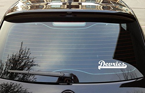 devries-last-name-ancestry-8x3-white-color-bumper-window-sticker-decal