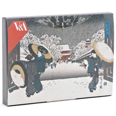 Japanese Woodblocks Pack of 12 Luxury Christmas Cards||RF10F