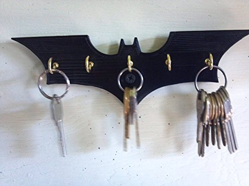 Plastic Batman Dark Knight Wall Mount Key Rack, Black