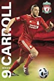 Andy Carroll Poster, 61cm x 91.5cm The Liverpool Striker Accompanied By His Kit Number And The Liverpool Crest