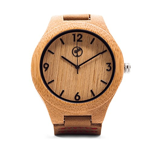 Wooden-Watch-for-Men-by-Tree-People-Bamboo-Wood-Case-Genuine-Cowhide-Leather-Watch-Strap-Miyota-Quartz-Movement