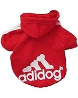 Demarkt Fashion Sport Vêtements/ Veste/ Capuche/ Manteau pour Petit Chien et Chiot - Couleur Rouge (Beaucoup de Couleurs Disponibles) (M)