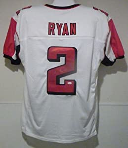 Matt Ryan Autographed white size XL jersey Atlanta Falcons by DenverAutographs