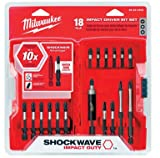 Milwaukee 48-32-4403 18-Piece Shockwave Impact Driver Bit Set