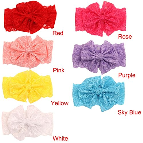 FEITONG(TM) 2015 Lovely Baby Girls Lace Big Bow Headbands Flower Head Wrap Hair Accessories from FEITONG