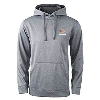 NFL Chicago Bears Champion Tech Fleece Hoodie, Large, Heather Grey
