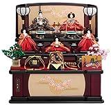 雛人形 久月 三段飾り 五人飾り ひな人形 衣裳着 木製三段飾り 五人揃 h233-k-1011 【2011年度新作雛人形】