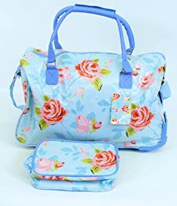 Rose Design Wheeled Holdall and Wash Bag from Constellation