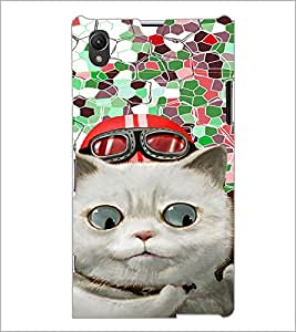 PrintDhaba Kitty D-4664 Back Case Cover for SONY XPERIA Z1 (Multi-Coloured)