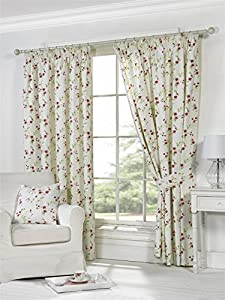 Charlotte Natural Cotton Blend 46x54 Lined Pencil Pleat Curtains #appip Gj from Curtains