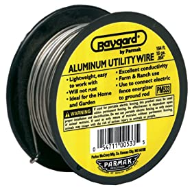 Baygard Electric Fence 14 Gauge Aluminum Wire - 164 Feet #00533