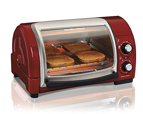 Hamilton Beach Easy Reach Toaster Oven, Red (31337) (Toaster Ovens Best Rated Compact compare prices)