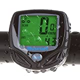 Picture Of Wireless Bike Computer, Blusmart Waterproof LCD Bicycle Odometer Multi Function Speedometer with LCD Backlight