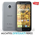 New Factory Unlocked Alcatel Fierce 5inch Touch Android Phone with A Free Protective Case, Black, International GSM Android Phone, Unlocked to work with AT&T, T-Mobile, Go Smart, Lyca Mobile, Simple Mobile, Ultra Mobile, Family Mobile, etc... all GSM Network worldwide