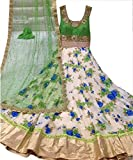Salwar Style Womens Net & Crop Salwar Suit Dress Material (WhiteGreen51_WhiteGreen_FreeeSize)
