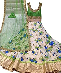Indian Beauty Multi Color Cotton Designer Lhenga