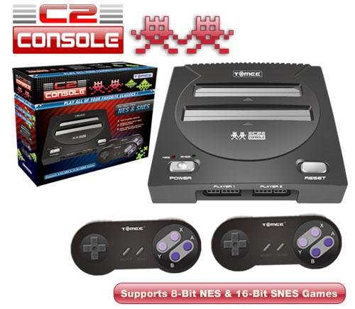Tomee C2 NES/SNES Retro Twin Gaming System - Black