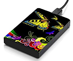 meSleep Floral Butterfly Hard Drive Skin