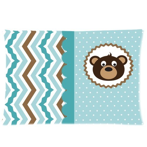 Baby Shower Invitation Custom Zippered Pillow Cases 20X30 (Twin Sides) front-890250