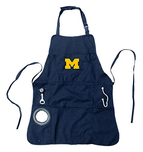 Ncaa Men'S Grilling Apron - University Of Michigan
