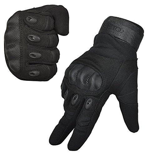 FREETOO® Mens Tactical Gloves Hard Knuckle Full Finger Adjustable Outdoor Sport/Fitness Black M