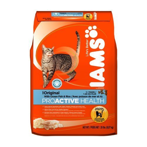 See Iams Proactive Health Adult Original with Ocean Fish and Rice, 20-Pound Bags