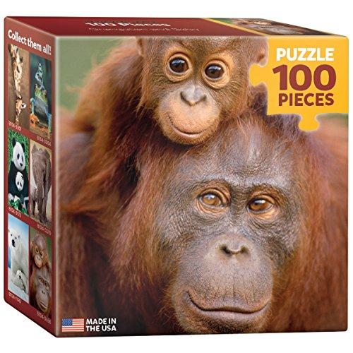EuroGraphics Orangutan and Baby Mini Puzzle (100-Piece)