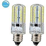 LJY® 2Pcs Pack E11 4W Dimmable 80-LED Bulb, Warm White Light, 3000-3200K, 300-320LM, 110V AC