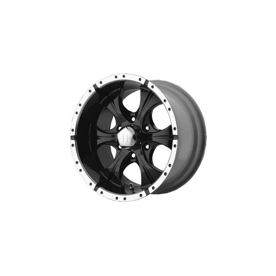 15x8 Helo Maxx (Gloss Black / Machined) Wheels/Rims 5x139.7 (HE7915855312) Automotive