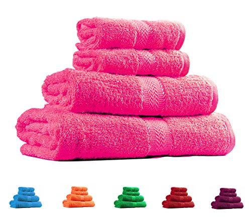 Hot Pink Towels Bathroom: Trident Soft And Light 100% Combed Cotton 400 GSM 4-Pieces