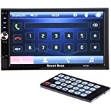SoundBoss 2Din Bluetooth Car Video Player 7'' HD Touch Screen Stereo Radio FM/MP3/MP4/MP5/Audio/USB/TF/AUX/REAR...