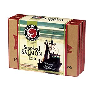 SeaBear Smoked Salmon Trio, 18-Ounce Box