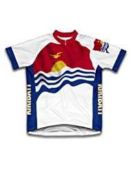 Kiribati Flag Short Sleeve Cycling Jersey for Women