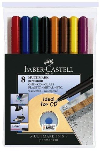 faber-castell-152478-astuccio-pennarello-permanente-confezione-da-8-pezzi