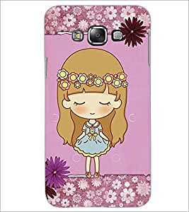 PrintDhaba Cute Doll D-3527 Back Case Cover for SAMSUNG GALAXY A8 (Multi-Coloured)