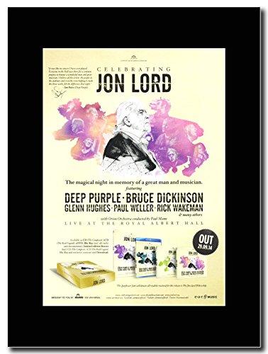 Deep Purple, per festeggiare Jon Lord Magazine Promo su un supporto, colore: nero