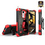 LG Stylo 2 case LG Stylus 2 case, LS775, K520,Trishield 3 in 1 Bundle, Dual Layer Protective Case Built in Stand, 1 HD Screen Protector,1 Holster Belt Clip [Red Boxing Gloves]