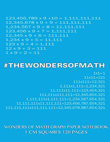 Wonders of Math Graph Paper Notebook 120 pages with 1 cm squares: 8.5 x 11 inch notebook with light blue cover, graph paper notebook with one ... sums, composition notebook or even journal