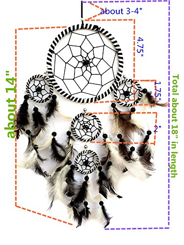 Beautiful Handmade Dream Catcher Wall Hanging Ornament (With a Betterdecor Gift Bag)-5r