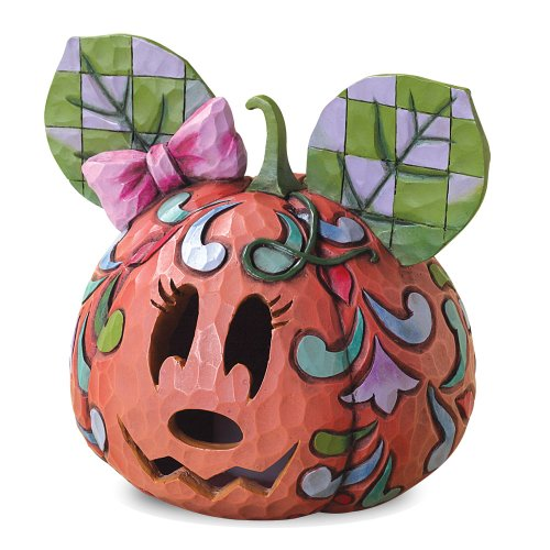 Enesco 4027939 Disney Traditions by Jim Shore Minnie Jack-O-Lantern Figurine, 5-1/2-Inch