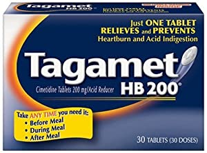 Tagamet Acid Reducer, 200mg, 30-Count Tablets (Pack of 2) by Tagamet