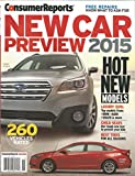 Consumer Reports New Car Preview 2015