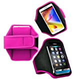 Wayzon Hot Pink Adjustable Sports GYM Jogging Running Riding Bike Cycling Dancing Armband Case Cover Skin Pouch Holster For Samsung Galaxy Y Pro Duos B5512