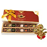 Chocholik Belgium Chocolates - 16pc Magical Treat Of Pralines Chocolate Box With Ganesha Idol - Diwali Gifts