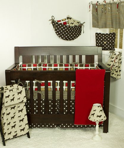 Cotton Tale Designs Houndstooth 8 Piece Crib Bedding Set